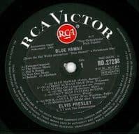 ELVIS PRESLEY Blue Hawaii Vinyl Record LP RCA Victor 1965